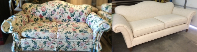 Floral Sofa-Before-and-After