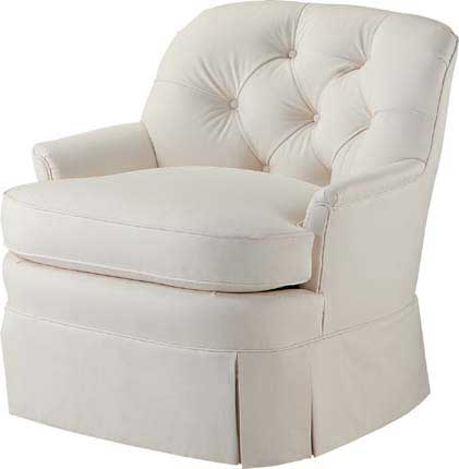Tufted Back Barrel Chair