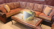 Leather sectional featured in sofa biz video