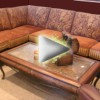 Custom leather sectional featured in Sofa Biz video ad.