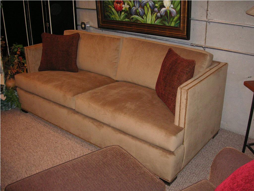 Lovely Landon Sofa In Velvet