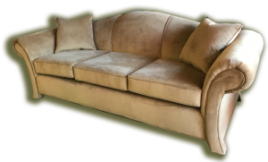 Camel Back Re-Upholstered Sofa