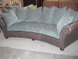 Customm Curved Rolled Arm Sofa