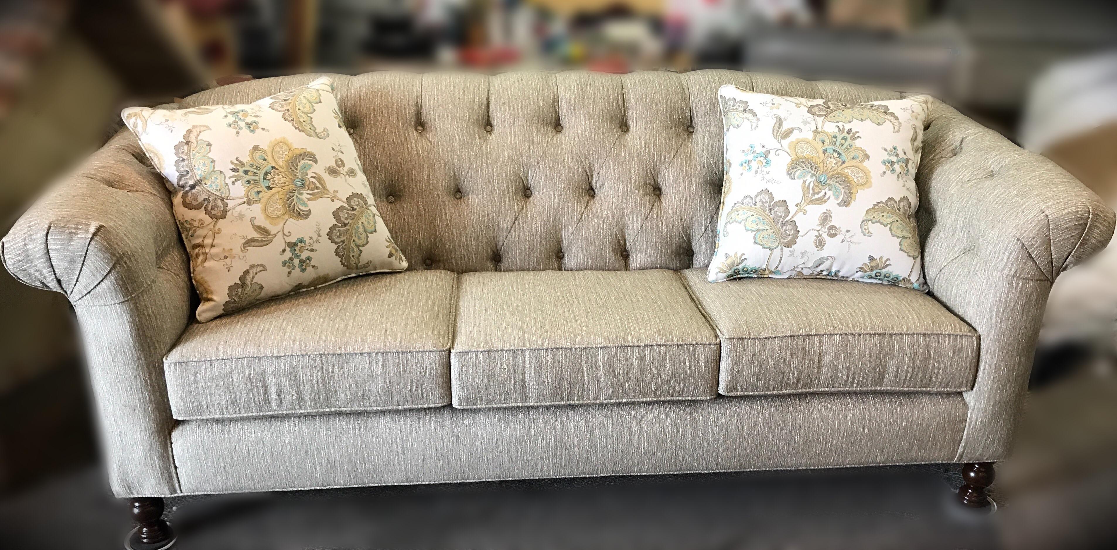 Rolled Arm Tufted Sofa Sofa Biz