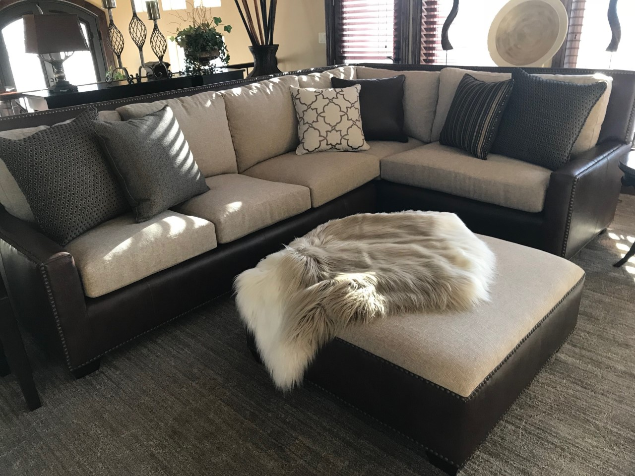 Leather Sectional by Sofa Biz