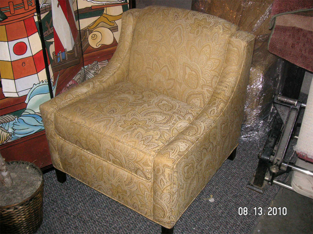 Golden Leafprint Chair