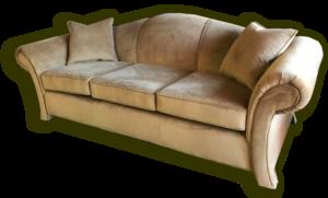 Camel Back Re-Upholstered Sofa